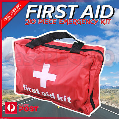 210 piece First Aid Kit Family Supplies Survival Medical Workplace Travel Set