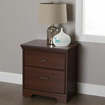 Traditional Style Versa 2-Drawer Bedroom Nightstand