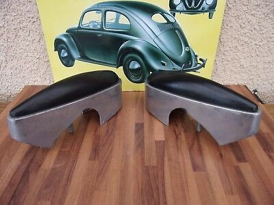 RARE:2 BUTOIRS ALU SACRED NEUF PARE CHOCS ARRIERE PEUGEOT 404 BERLINE 60's NOS!