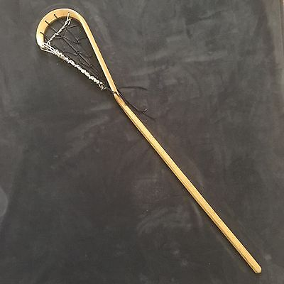 Polo By Ralph Lauren Store Display Lacrosse Sticks Dark Brown Leather
