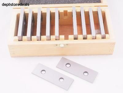 Pair 1/8 Precision Parallel Set Wooden Case Quality Steel Stress Distortion Fine