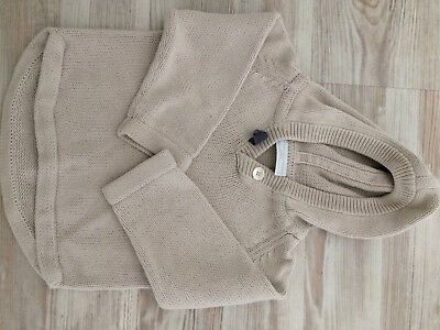 Beige Little White Company Hooded Jumper 99p 9-12 Months