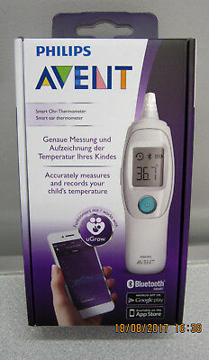 New & Sealed Award Winning Philips Avent Smart Ear Thermometer SCH740/86,