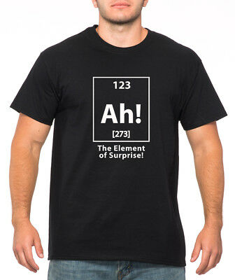 c7ea641bb7a7c7 AH THE ELEMENT OF SURPRISE funny Halloween periodic table chemistry nerd T- Shirt