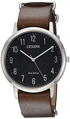 Citizen Eco-Drive Leather Mens Watch BJ6500-04E