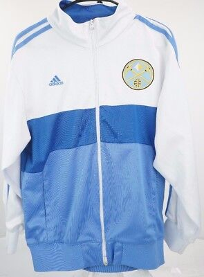 Adidas Denver Nuggets NBA Boys Youth On Court Reversible Jacket Blue// Yellow