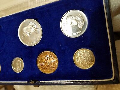 1968 South Africa  Proof mint set partial missing rand  toning + mystery coin