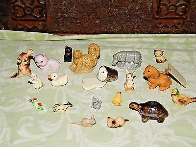 Lot Of 18 Vintage Animals Bird Miniature Figurines Porcelain Ceramic Wade Japan