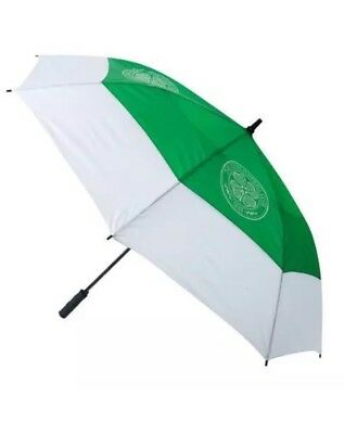 Brand New Celtic Fc Double Canopy Golf Umbrella