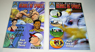 Will Eisner's Heroes Of Sports #1 And #2  Complete Set
