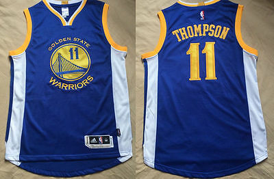 New Golden State Warriors #11 Klay Thompson basketball Jersey Blue S-XXL