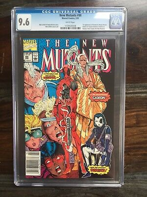 New Mutants #98 - CGC 9.6 - 1st Appearance of Deadpool (1991) Rictor leaves