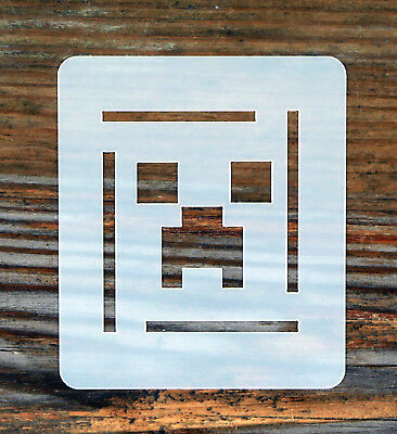 Minecraft Face Painting Stencil 7cm x 6cm 190micron Washable Reusable
