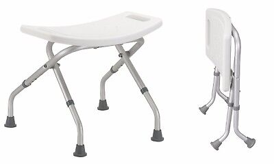 Drive Medical Folding Aluminium Bath Shower Stool Seat Bench. Adjustable Height