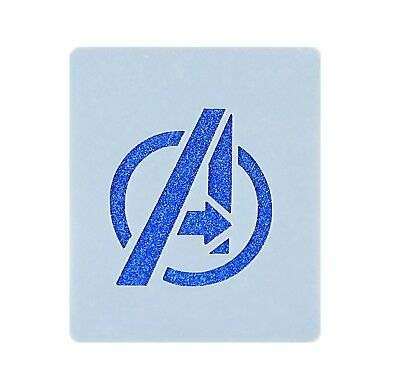 The Avengers Logo Face Painting Stencil 7cm x 6cm Washable Reusable Mylar