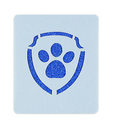 Paw Patrol Logo Face Painting Stencil 7cm x 6cm Washable Reusable Mylar