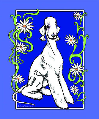 "POLAR FLEECE BLANKET..BEDLINGTON TERRIER 50"" x 60"" Orig. Art."
