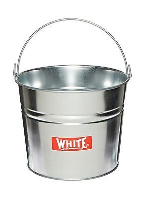 "Impact 410 24 Gauge Steel Galvanized Utility Pail 10 qt Capacity 8-1/2"" Heigh..."