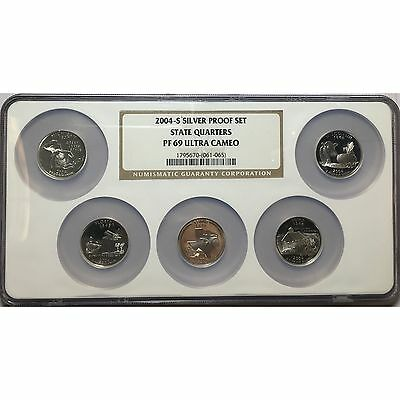 2004-S NGC Silver Proof Set State Quarters PF69 Ultra Cameo