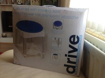 Brand New Boxed Drive Bath Stool With Rotating  Seat And Ajustable Height.
