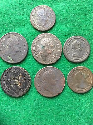 George1st A Selection Of Copper Coins Detector Finds
