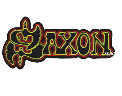SAXON Iron On Sew On Embroidered Patch Punk Rock  UK SELLER