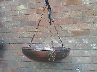 Antique 19th century copper hanging pan