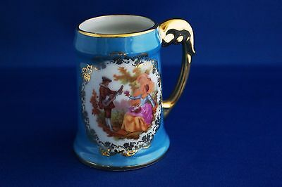 BARDET LIMOGES FRANCE - Beautiful Blue Small Stein/Cup