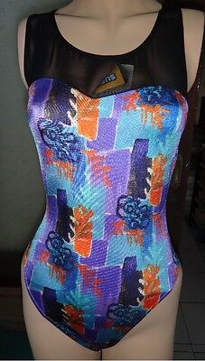 New Multicolored Dance / Fitness Leotard for Women size 8 Small