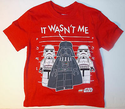6e845f28 LEGO STAR WARS Boys It Wasnt Me T-Shirt Sizes 4-5, 6-7, 8, 10-12 or ...