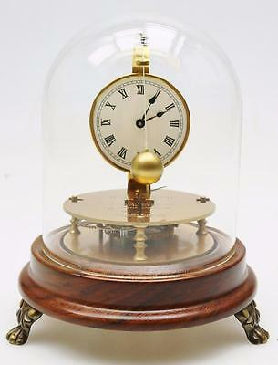 Rare Vintage German 8 Day Mystery Briggs Rotary Pendulum Mantel Clock Under Dome