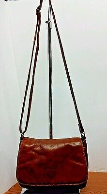 GIUDI Soft Brown Leather Shoulder Bag with Adjustable Strap - Made In Italy