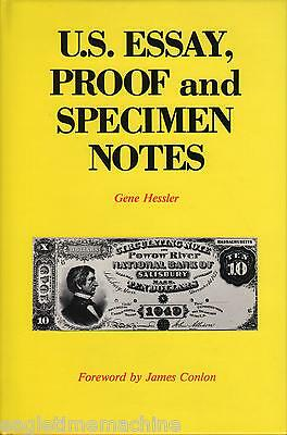 US Essay Proof And Specimen Notes Illustrated NEW Book by G Hessler  FREE Post