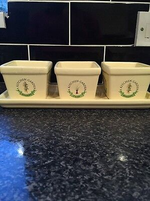 Herb kitchen garden kit indoor windowsill balcony ceramic Kitchen windowsill herb pots