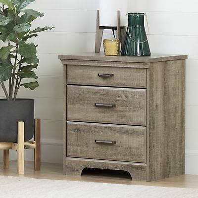 South Shore Furniture 10555 Versa Nightstand with Charging Station and Drawers