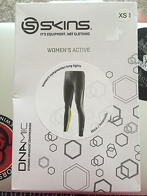Women's SKINS  DNAMIC LONG TIGHTS NEW IN BOX XSMALL