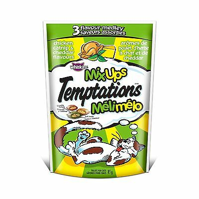 Temptations Mix-Ups Chicken Catnip and Cheddar Flavor's Treats for Cats 12 Pa...
