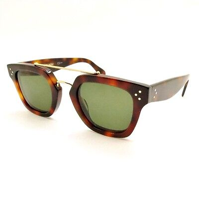 3cb7f24c1ec8 Celine CL 41077 S 05L1E Havana Green New 100% Authentic Sunglasses rl817