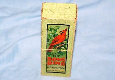 Old vintage - The Song Bird Harmonica Made by FR Hotz Germany