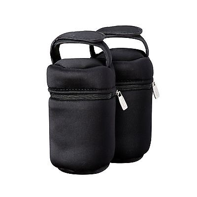 Tommee Tippee Insulated Bottle Bag-2-Pack Black