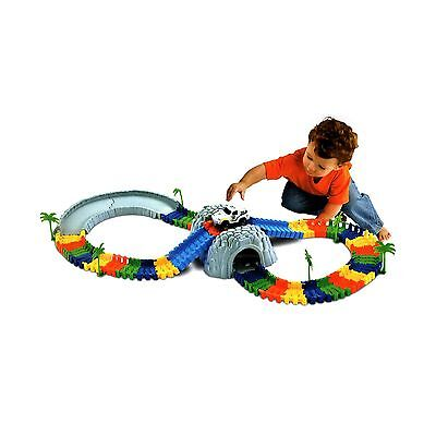 96 Pieces Flexible Variable Track with Car & Cave& Trees for Children Racing ...