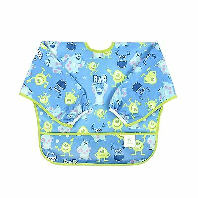 Bumkins Disney Baby Waterproof Sleeved Bib Monsters Blue (6-24 Months)