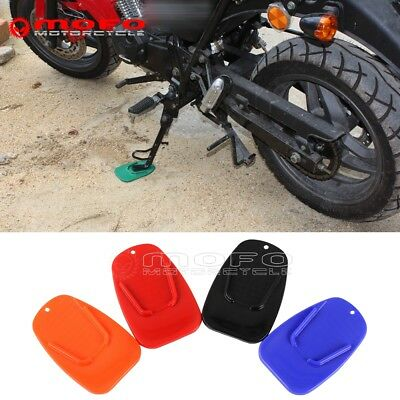 Kickstand Side Stand Plate Pad Base For Motorcycle Yamaha Honda Harley BMW KTM