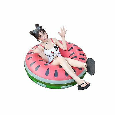 Adults Watermelon Inflatable Float Swimming Aids Pool Fruit Swim Ring Floatie...