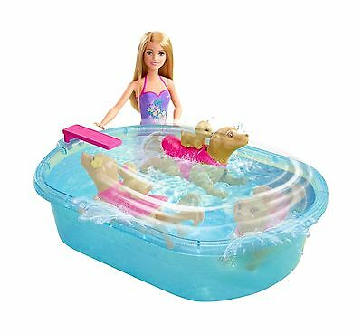 Barbie and Her Sisters in a Puppy Chase Pool Playset