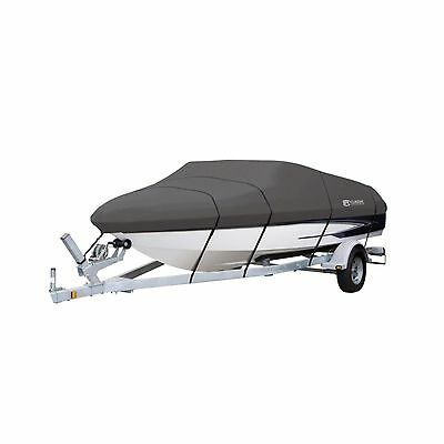 Classic Accessories 88948 StormProTM Boat Cover Model D (Grey)