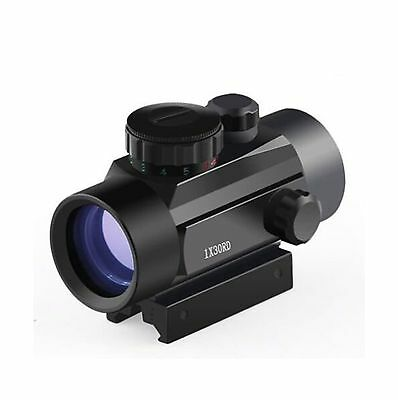 Twod Red Green Dot Sight 1x30mm Rifle scope with 20mm Picatinny Weaver Mount ...