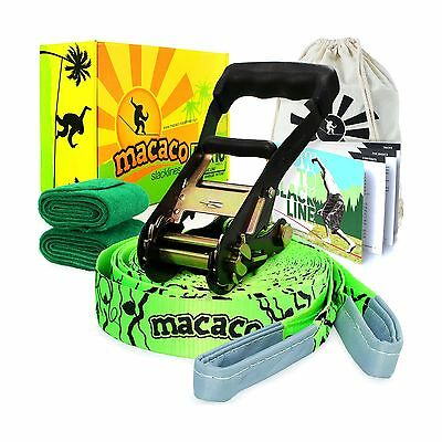 Macaco Slackline - 16m Long 50mm Wide (Inc. Carry Bag)
