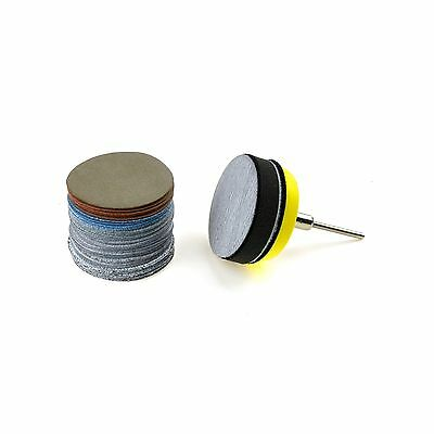 2 inches Multiple Grits Aluminum Oxide White Dry & Wet/Dry Hook and Loop Sand...