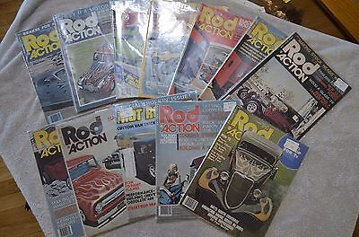 Lot of 12 1970's Vintage Rod Action Magazines